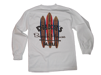 View: Duke's Beach House Maui-Men's Long Sleeve T-Shirt, White