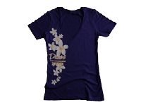 View: Duke's Waikiki-Women's V-Neck T-Shirt, Purple
