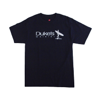 "View: Duke's Waikiki-""Island Surfer"" Crew Neck T-Shirt, Navy"