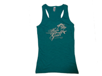 "View: Hula Grill Kaanapali-Women's ""Palm"" Racer Back Tank Top, Jade Green"