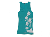 "View: NEW! Hula Grill Kaanapali-Women's ""Palm"" Tank Top, Light Teal"