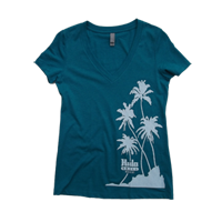 View: Hula Grill Waikiki-Women's V-Neck T-Shirt, Teal