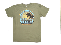 "View: Kimo's - 'Sun Ray"" T-Shirt on Olive Green"