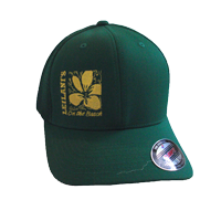 View: Leilani's-Cap, Flexfit, Green with Embroidery