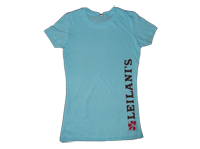 View: Leilani's-Women's Crew Neck T-Shirt, Aqua