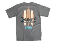 View: Duke's Kauai Two Tone Boards T-Shirt Charcoal