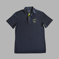 View: Duke's Waikiki-Custom Grey Polo with Lime Embroidered Petro