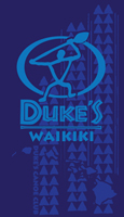 View: Duke's Waikiki-Beach Towel, Royal Blue