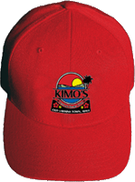 View: Kimo's Embroidered Baseball Cap Red