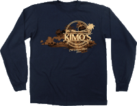 View: Kimo's Palm Long Sleeve T-Shirt Navy