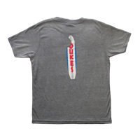 "View: Duke's Beach House Maui-Children's ""Shark Bite"" Tee, Lightweight, Gray Heather"