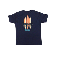 View: Duke's Kauai-Childrens Three Boards T-Shirt, Navy