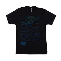 "View: Duke's Kauai-""Waves"" Light Weight T-Shirt, Black"