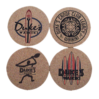 View: Duke's Waikiki-Cork Coasters, 4 Designs, 8 Total